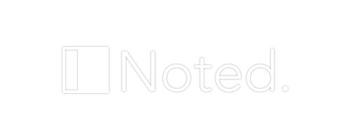 Noted white logo